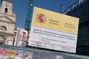 Cartel del MInisterio de Cultura.