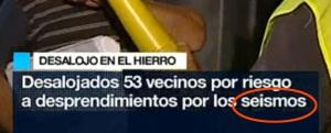 Rótulo en el informativo matinal de TVE